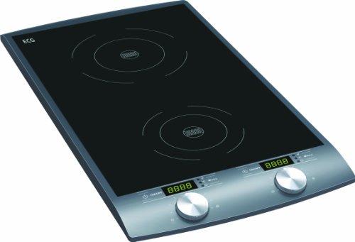 ECG IV 29 2-in-1 inductiekookplaat, 2900 W, 10 warmtestanden, temperatuur 60-240 °C, tijdcontrole 1-180 min, zwart