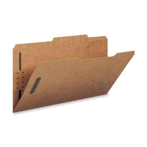 Smead Schnellhefter mit 2 Verschlüssen, verstärkte 2/5-Schnittlasche, rechts an der Mitte, Führungshöhe, Briefgröße, Kraftpapier, 50 pro Box (14880)