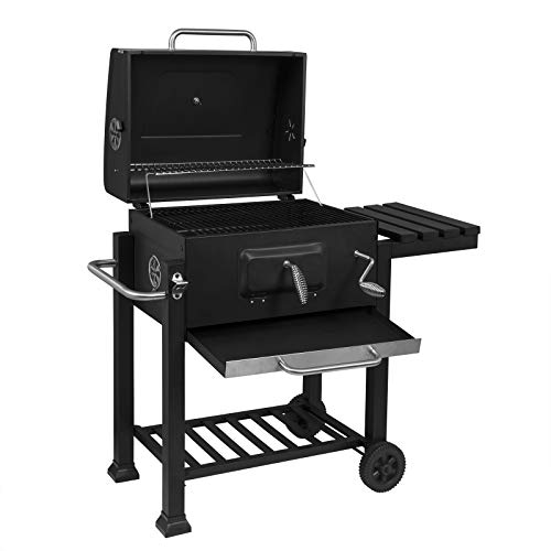 41nJoH4VDpL. SS500  - WOLTU Charcoal Barbecue Grill Smoker Black Outdoor BBQ Grill with Wheels and Temperature Gauge for Camping Garden Patio Picnic Party CPZ8135sz