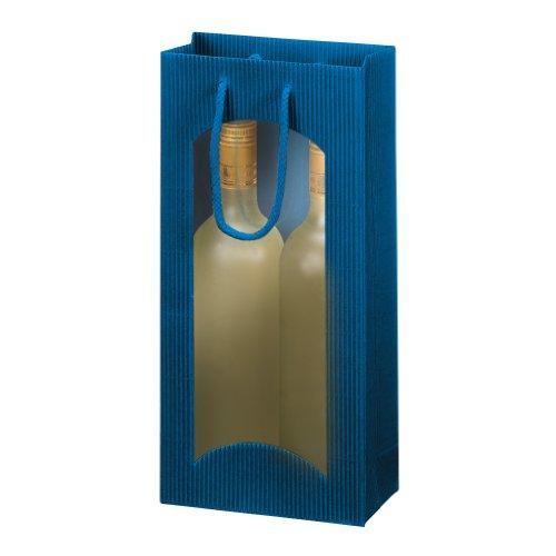 Susy Card 11274933 Geschenktasche für 2 Flaschen, dunkelblau