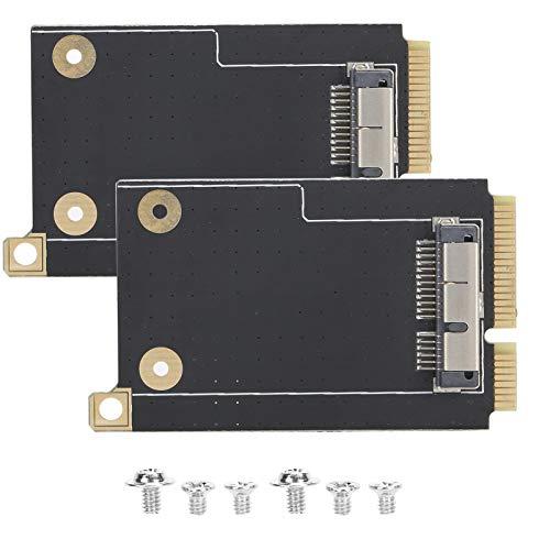Tarjeta convertidora de 2PCS para OS X a Mini PCI-E WLAN Converter PC Adaptador WiFi PCI-E Compatible con el Sistema OS X portátil PCI-E