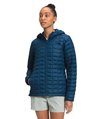 The North Face Women's ThermoBall Eco Hoodie, Monterey Blue Matte, XL