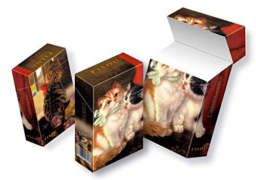 slipp overall Motiv Süße Kätzchen Katzen | ZIGARETTENSCHACHTEL ÜBERZIEHER Zigarettenschachtel Hülle Komplettüberzieher mit Deckel (067 Kätzchen, 3 Stück)