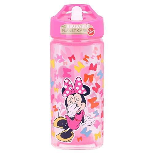 Botella Square 530 ML Disney Minnie SO Edgy Bows