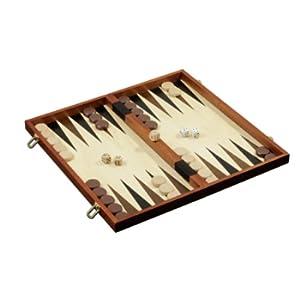 Philos 2510 - Set Scacchi/Dama/Backgammon, re Alto 78 mm, caselle da 40 mm