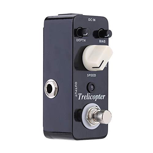 Trelicopter Micro Mini Optical Tremolo Effect Pedal, per chitarra elettrica Vero Bypass Processore 9 * 3.5 * 3.2 cm Nero