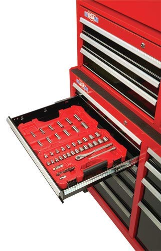 CRAFTSMAN Tool Chest with Drawer Liner Roll/Tray Set, 52-Inch, 8 Drawer, Red (CMST82774RB)