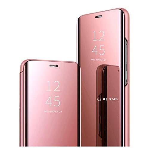 Kompatibel mit Sumsung Galaxy A50 Hülle, Clear View Protective Standing Cover Galaxy A50 Handyhülle Flip Cover Spiegel Schutzhülle für Galaxy A50 Handyhülle (1)