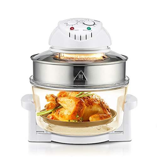 Grote capaciteit Home Fries stoomoven, met pan pan bakken, Toaster heteluchtoven, met 1300 Watt, geschikt voor ontbijt Toast sandwiches, brood, gebakken eieren, White