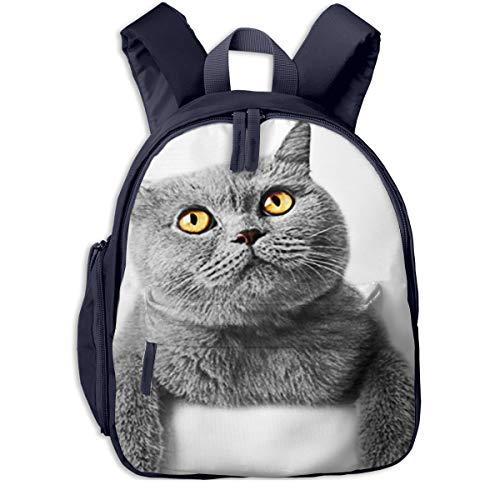 Kinderrucksack Kleinkind Jungen Mädchen Kindergartentasche Kätzchen Katzen Fahne britisch Backpack Schultasche Rucksack
