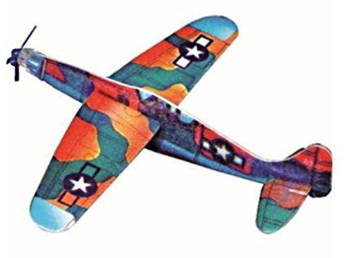 Styro planeador, con hélice de 20 cm de poliestireno