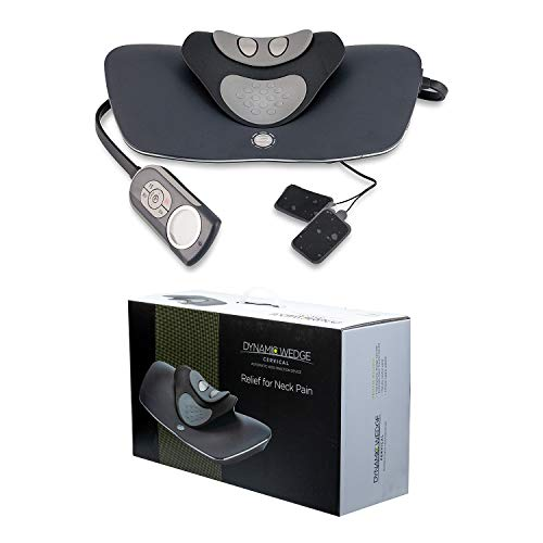 Neck Traction with Heat Therapy and Electrotherapy by Dynamic Wedge Cervical - Automatic Device with Electrotherapy, Multi-Function Programs, Adjustable Temperature - Neck Pain Relief, Stretcher