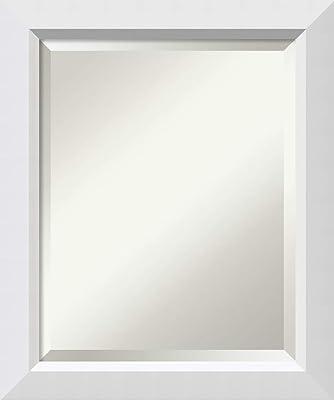 Amazon Com Bathroom Mirror Blanco White Wood Mirror 24 0 X 20 0 In Small Vanity Mirror Wall Mirror Home Kitchen