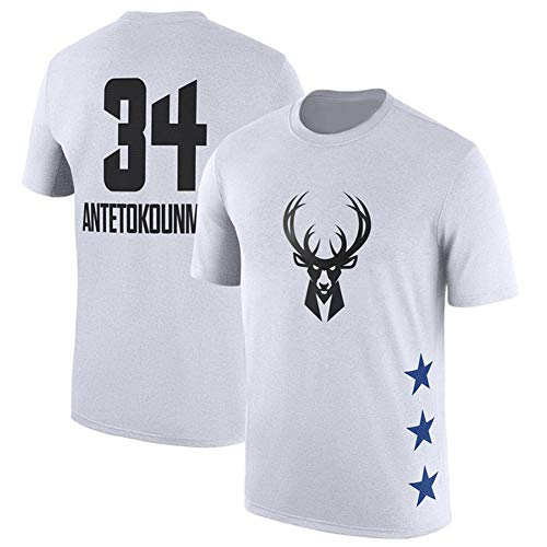 ZHS Camiseta de baloncesto All-Star, 23 James & #3 Wade & #34 & #2 Leonard, camiseta de baloncesto de algodón para hombre 6-S