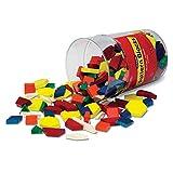 Learning Resources- Bloques geométricos de Madera de 1cm (Juego de 250), Color (0 LER0334) , color/modelo surtido