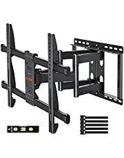 """Full Motion TV Wall Mount Bracket Articulating 6-Arm for 42-70 Inch LED, LCD, OLED Flat Screen TVs, TV Wall Mount with Swivel and Tilt, Fits Max VESA 600x400mm, 100 lbs. Loading, 12""""/16"""" Studs, ELIVED"""