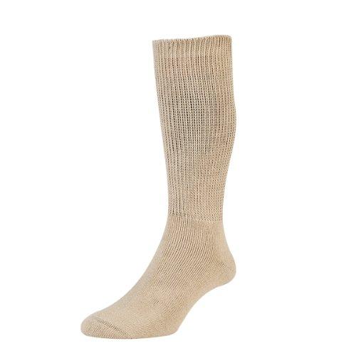 HDUK Mens Socks HJ Hall Health Reihe hj1351Baumwolle Diabetiker Socken/erhältlich in den Größen 4–7, 6–11& 11–13 Gr. Large, Beige - Beige