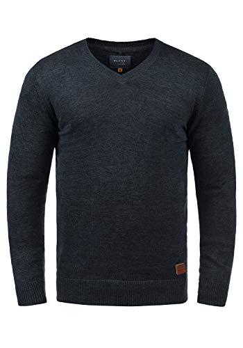 BLEND Lasse - Jerséis para Hombre, tamaño:XL;color:Navy (70230)