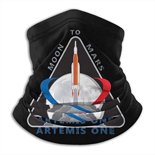 Alanader Artemis Mission One Patch Unisex Fleece Neck Warmer Warmer Neck Tube Neck Scarf Neck Gaiters