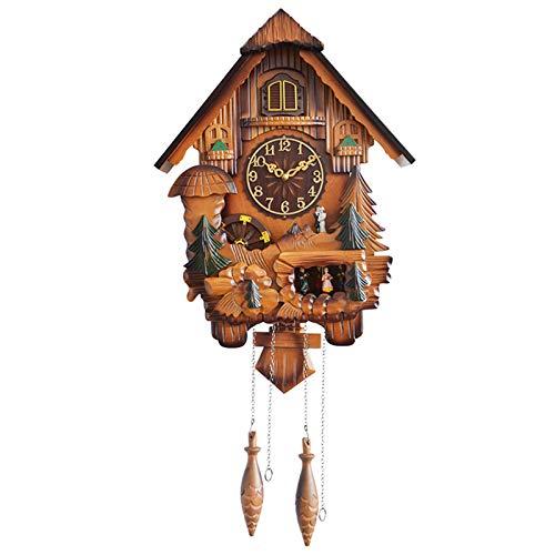 SqSYqz Grande Orologio a cucù Tradizionale in Legno, Arredamento per la casa e Cucina, Decorazione dell'orologio da Parete |,B