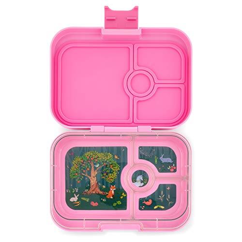 Yumbox Panino M Lunchbox - 4 Fächer, mittelgroß (Stardust Pink) | Brotdose mit Trennwand Einsatz | Brotbox für Kindergarten Kinder, Schule, Erwachsene