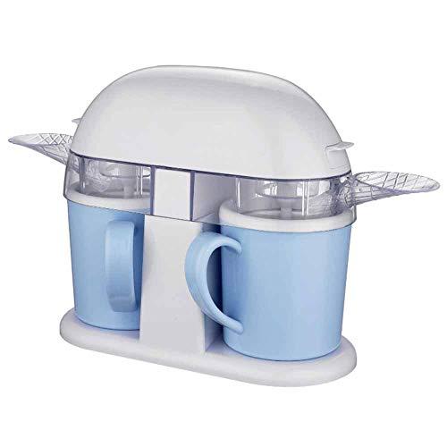 TQMB-A Soft Serve Ice Cream Machine Topping dispensador, Doble Copa Slush Fabricante de Helado del...