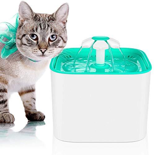 MVPower Katzen und Hunde Trinkbrunnen Haustier Blumentrinkbrunnen Trinkbrunnen für Katzen und Hunde Automatisch Leise Haustier Wasserbrunnen Wasserspender mit 4 Aktivkohlefilter