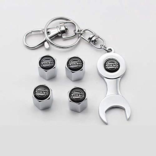 Fitracker 4 Stücke Auto Ventilkappen Rad Reifen Ventil Vorbauten Kappen Luftabdeckung Schraubenschlüssel Geschenk für Fahrer