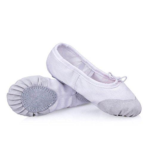 ARAUS Ballettschuhe Gymnastikschläppchen Weiche Geteilte Katzenkralle-Form Sohle aus Segeltuch für Mädchen/Damen in Gr.22-45