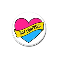 3x Not confused pansexuell Flagge Button 25mm Pride CSD Lgbt Badge