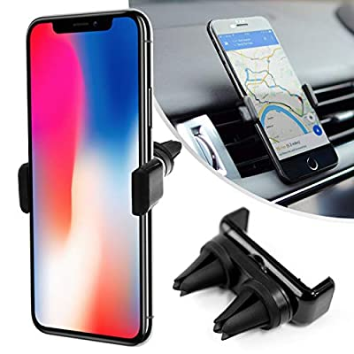 Desire2 Universal Cell Phone Holder for Car, View Car Air Vent Clip Holder, Hands Free Cradle, Compatible with iPhone 12 Series, iPhone 11, SE, XS, X, XR Series, Samsung S20, S10, S9, S8, S7 Edge, S6 by Desire2