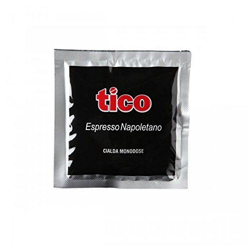 Tico - Confezione 150 Cialde monodose Caffè Espresso Napoletano Qualità nera.