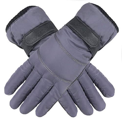 Touch Gloves Touchscreen Handschuhe Herren Damen Winter Daunen Baumwolle Fingerhandschuhe Anti-Rutsch Wasserdichte Winddicht Winterhandschuhe Casual Outdoor Sports Fäustlinge Grau