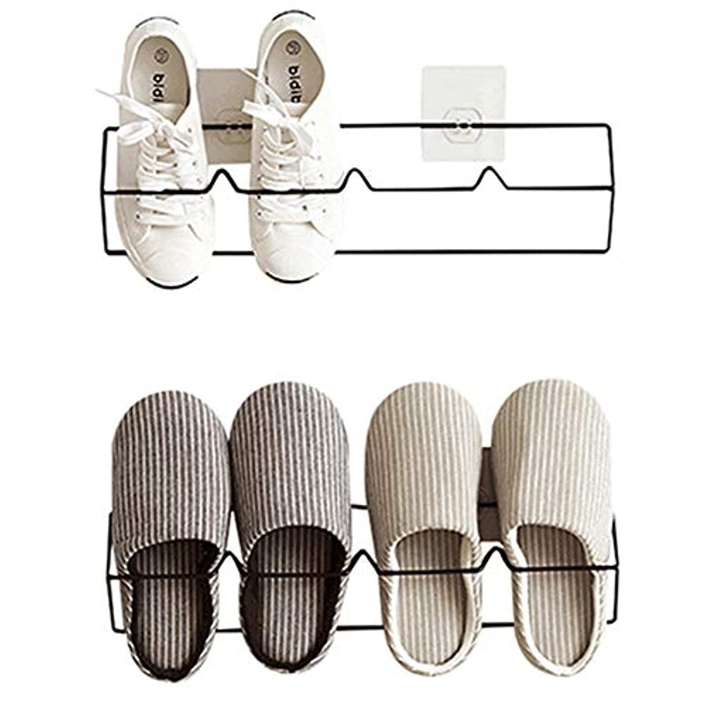 Esdella Shoes Rack Organizer Wall Mounted Storage Shelf Shoe Holder Keeps Shoes Off The Floor