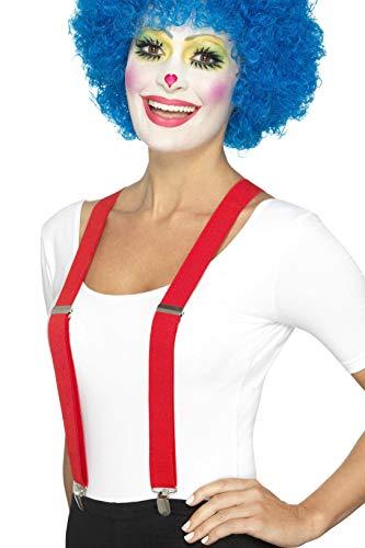 Smiffys Unisex Clown Hosenträger, One Size, Rot, 46870