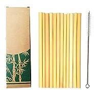 -   Pailles en bambou réutilisables respectueuses de l'environnement   – Créées par la nature, chaque paille en bambou est 100% bio et peut être lavée et réutilisée de nombreuses fois. Ils sont complètement inodores et sans goût, et ils ne finiront j...