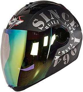 Steelbird SBA-2 TANK with Night Vision visor in Matt Finish (Large 600MM, Black/Grey)