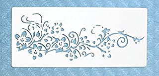 Stencil by The Bodhi Tribe- Flowers on Vine Yoga Stencil for DIY Painting and Art Projects