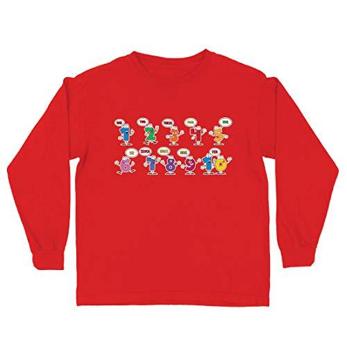 lepni.me Camiseta para Niño/Niña Amo Las matemáticas, Ropa de Regreso a la Escuela o de graduación (12-13 Years Rojo Multicolor)