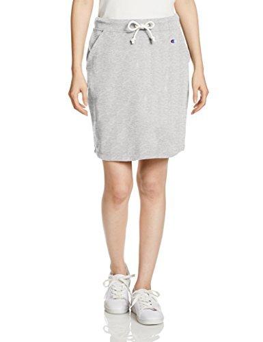 [チャンピオン] スカート UVカット ワンポイントロゴ スウェットスカート ウィメンズ ベーシック CW-K218 オックスフォードグレー L