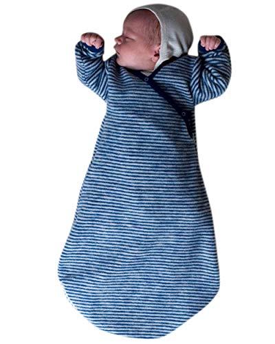 Lilano, Baby Wickelsack Flausch, 100% Wolle (kbT) (50-56, Marine/Natur)