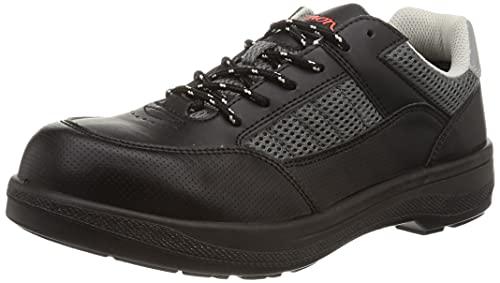 [シモン] 安全作業靴 JSAA認定 短靴 プロスニーカー 耐滑 メッシュ 8811 メンズ ブラック 25.5 cm 3E