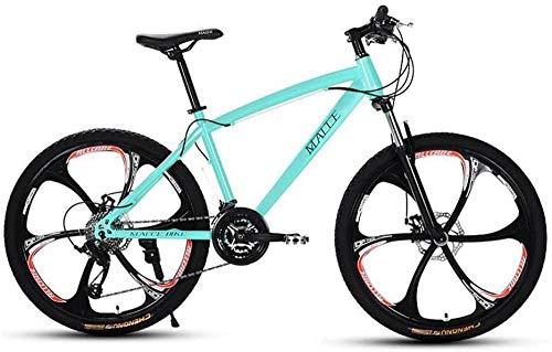 QJWY-Home Adulto 26 Mountain Bike motoslitta da Spiaggia Mountain Bikedoppio Freno a Disco MTB Ruote in Lega di Alluminio Uomo Donna Uso Generale-Green 24 Speed