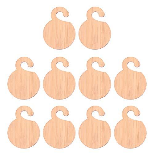 Angoily 20 Unidades de Etiquetas de Bambú para Plantas Redondas Colgantes para...