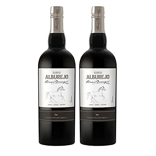 Vino Oloroso Alburejo de 75 cl - D.O. Jerez-Sherry - Bodegas Alvaro Domecq (Pack de 2 botellas)