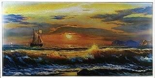 R.S.Inc Textured Art Work Painting of Vastu Sunrise Fine Print Unframed Rolled Poster