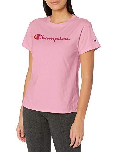 Champion Damen Classic Tee T-Shirt, Gelb...
