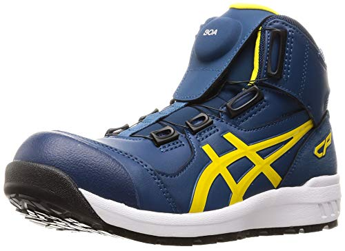[アシックス] ワーキング 安全靴/作業靴 ウィンジョブ CP304 BOA JSAA A種先芯 耐滑ソール fuzeGEL搭載 マコブルー/ブライトイエロー 26.5 cm