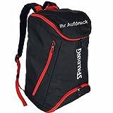 Spalding Basketball Rucksack schwarz/rot mit Aufdruck Name