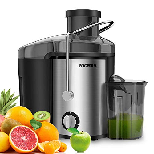 Juice Extractor, FOCHEA Centrifugal Juicer Machine Wide Mouth for Fruit and Vegetable, Juicer Anti-drip with Pulse Function and Multi Speed Control, Easy to Use and Clean & BPA-Free